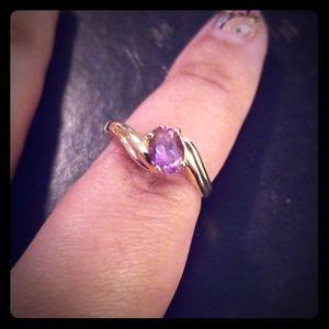 14kt gold amethyst ring